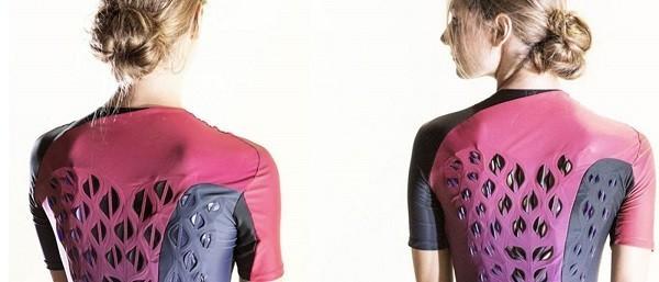 出汗时 这种生物智能服装能自动通风
