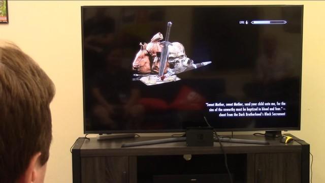 《上古卷轴5》Switch版电视模式试玩视频