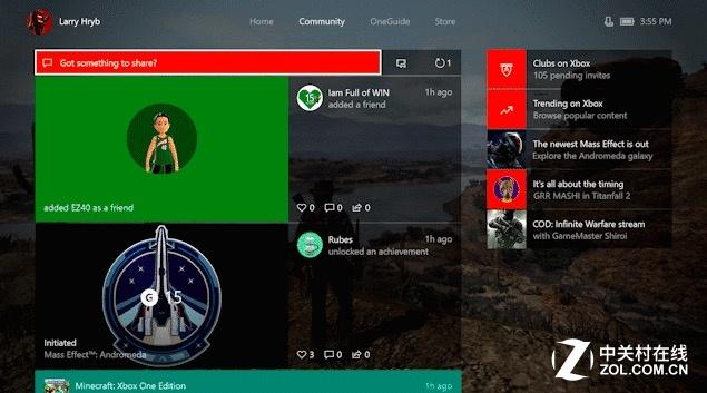 Xbox One 领军Windows 10创意者更新 正式版已推送
