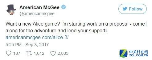 爱丽丝3正筹备制作中 暂名爱丽丝:庇护