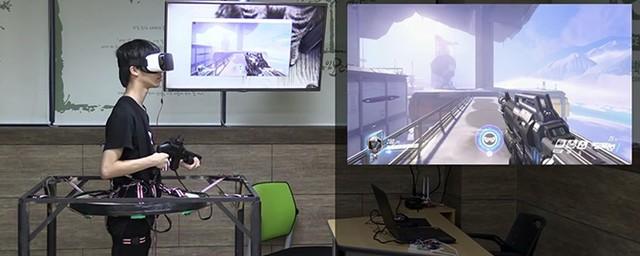 大神在民间玩家自制《守望先锋》VR设备