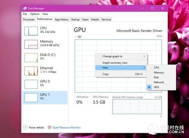 "Windows 10最新预览版""任务管理器""增加GPU性能追踪"