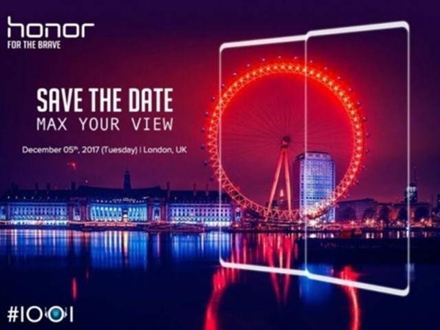 麒麟970+全面屏 荣耀V10或12月伦敦发布
