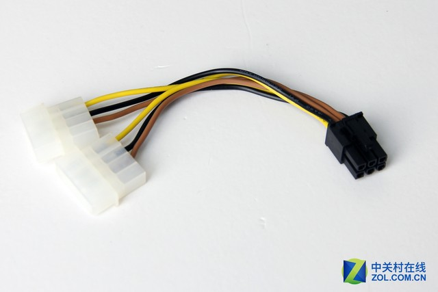转接线将d口转为6pin或将6pin转为8pin为显卡供电
