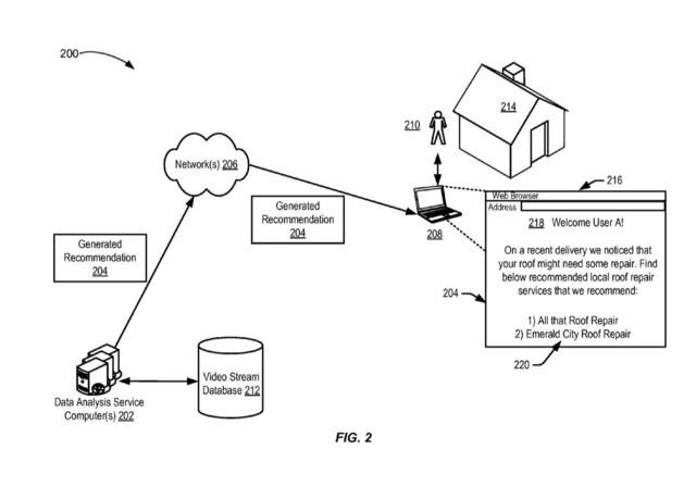 亚马逊无人机新专利:给你家送完货再推销