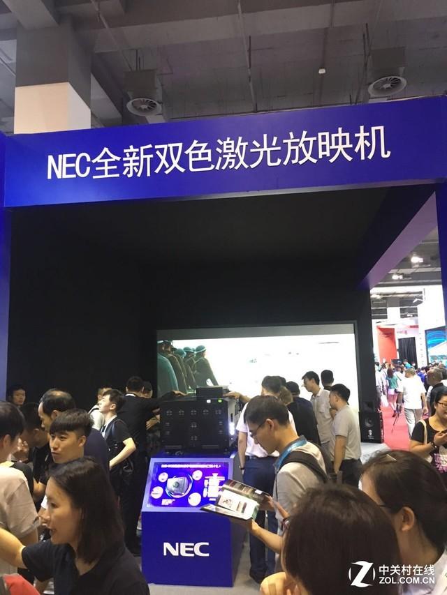 NEC全新双色激光放映机亮相上海电影展