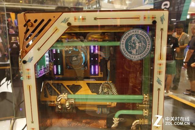 CJ海盗船现场 K95 RGB铂金展台再度亮相