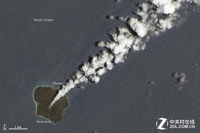 这速度可以 日本火山连喷3年造出新岛