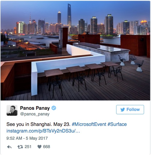 Surface Pro 5会来吗?期待5月23日上海