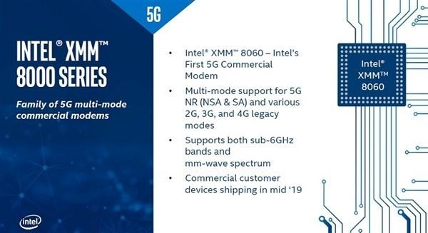 全网通!网曝Intel发布5G基带XMM8060