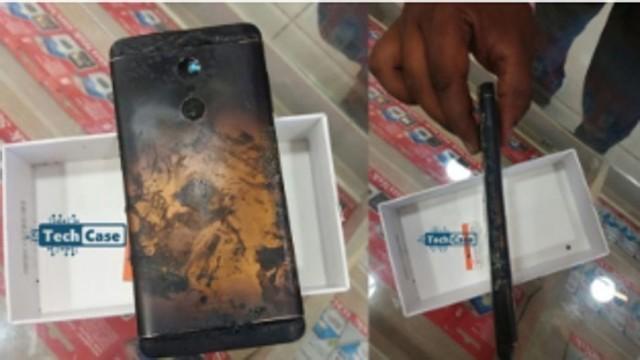 红米Note 4插入SIM卡瞬间起火爆炸(图片引自微博) 根据具体的报道称,小米印度已经证实了这一事件,并对该手机的持有者更换了新机。而该用户于今年6月1日在班加罗尔一加商店买了这部红米Note 4,而在本月17日出现了问题并拿至出事的这家服务中心进行检查和维修。 但就这部手机着火的原因来看,小米印度方面称,其主要是由于使用者使用了第三方充电器,从而导致了机器的物理损坏。 本文属于原创文章,如若转载,请注明来源:震惊!红米Note 4插入SIM卡起火爆炸了http://mobile.