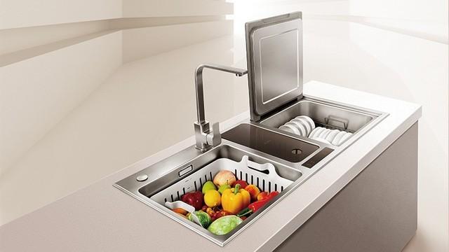 厨房整体橱柜尺寸_用户亲身经历 方太水槽洗碗机真的靠谱么?_fotile洗碗机_家电 ...