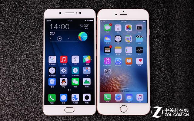 尖Phone:vivo X7Plus对比iPhone6s Plus