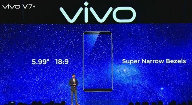 vivo印度发布V7+ 5.99英寸全面屏设计
