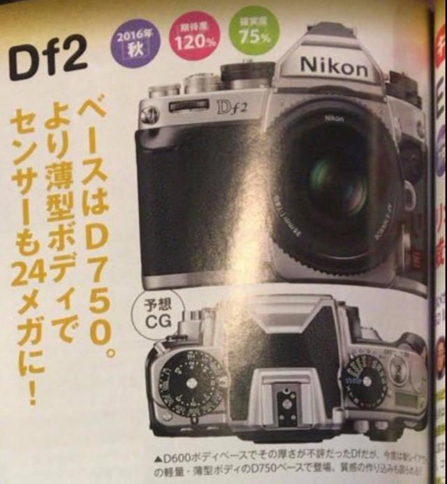 沿用D750传感器 尼康或发布DF2单反相机