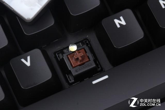 罗技G610茶轴版机械键盘虽然使用Cherry MX茶轴-轴体开关 Cherry轴