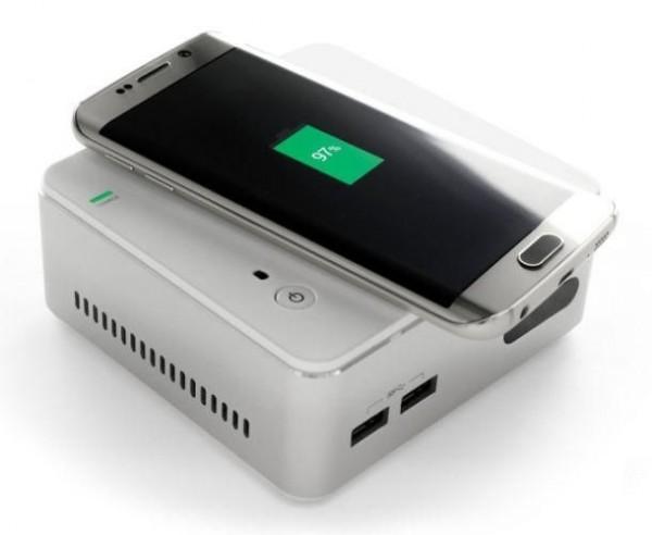 支持手机无线充电 Win10台式迷你PC上市