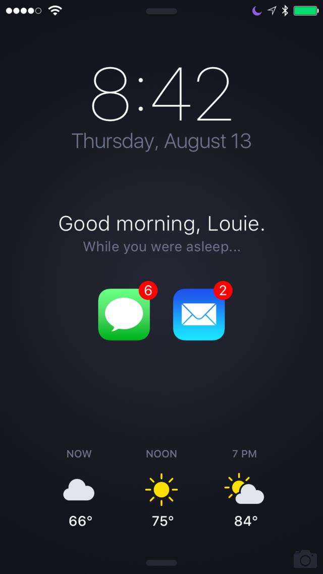 iphone锁屏界面可以做得更好!比如这样_苹果新闻