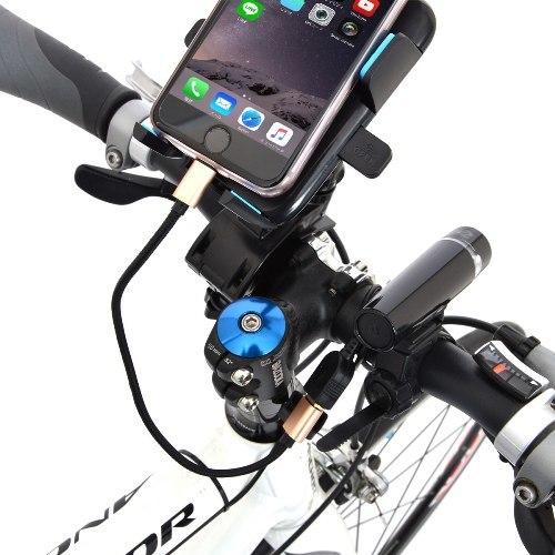 边骑车边给手机充电