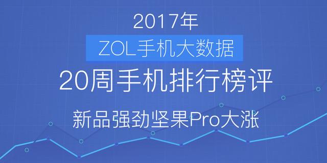 20周手机排行榜评:新品强劲坚果Pro大涨