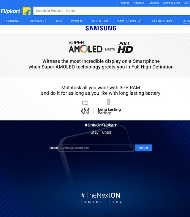 新中端机 印度电商曝光三星Galaxy On8