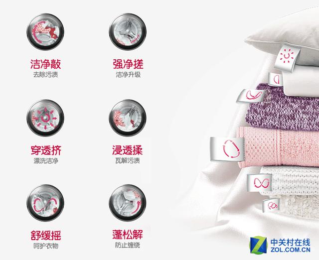智能手洗更洁净 LG洗衣机十一预约享优惠