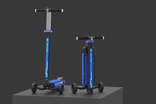 除了托人还能托行李箱 滑板车新技能