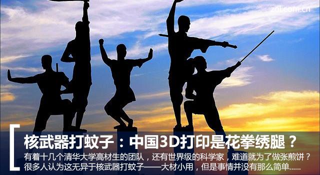 核兵器打蚊子:中国3D打印是花拳绣腿?