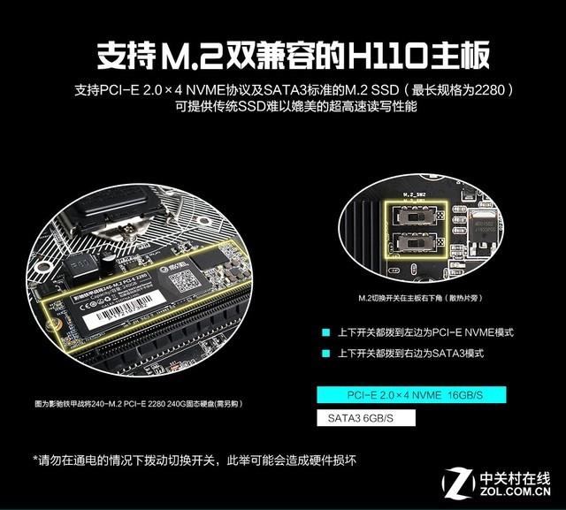 影驰推出H110-M.2 PLUS主板 售价399元