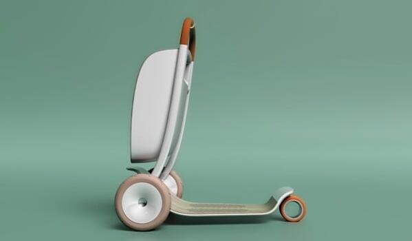 菜篮滑板车