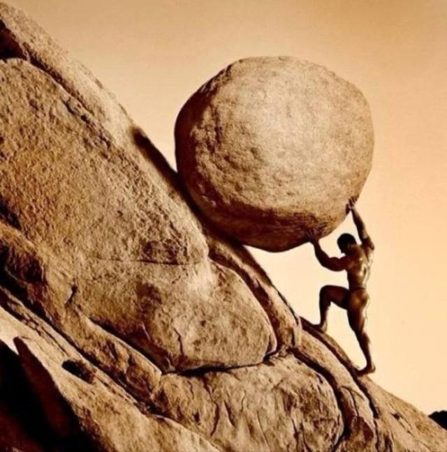 这款游戏你永远也赢不了!推石头上山
