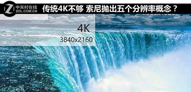 传统4K不够 索尼抛出五个分辨率概念?