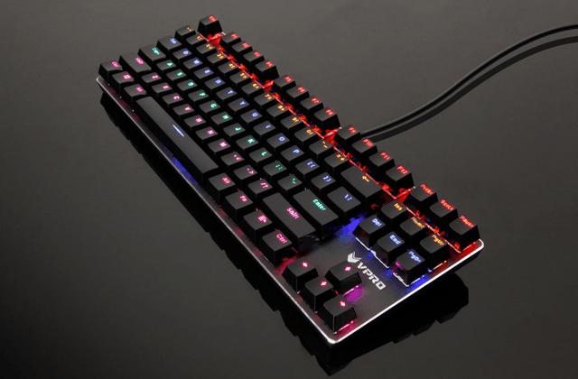 87霸气颜值  雷柏V500PRO混彩背光机械键盘图赏