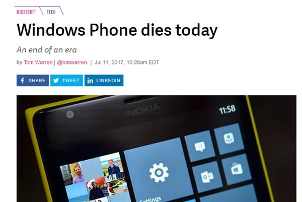 全球第三大手机OS死亡 数百万用户被抛弃