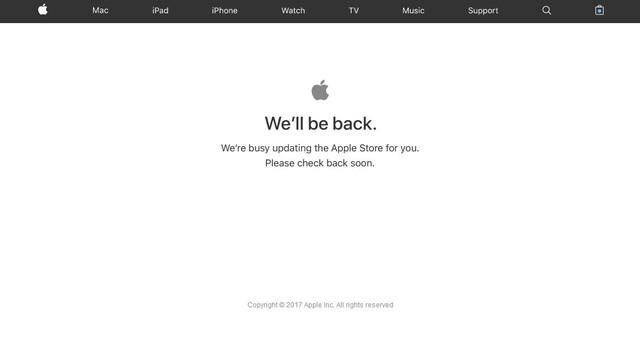 准备就绪 苹果官网提前5小时进入维护