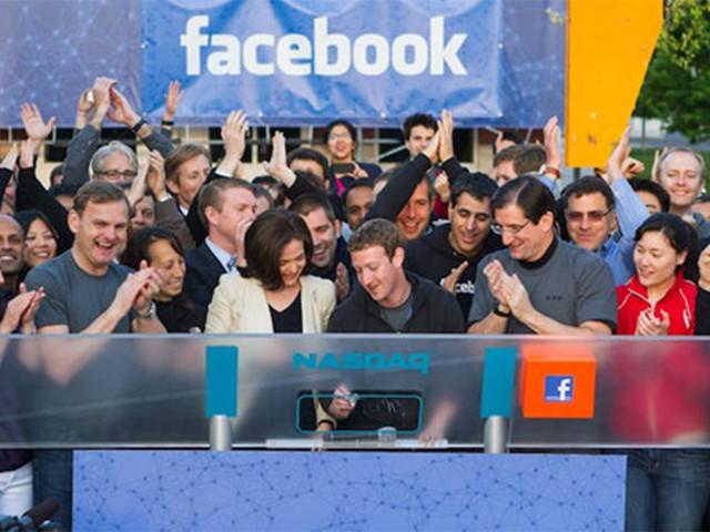 脸书上市五年股价翻两番:市值破4200亿美元