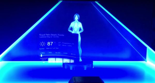 微软小娜首次以全息3D的形式面向大众