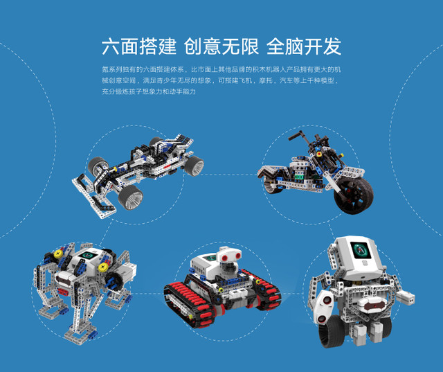 能力风暴氪系列积木机器人促销