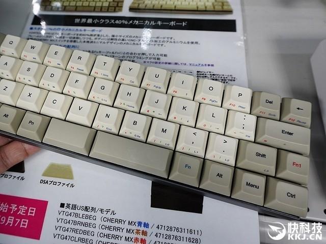 47%配列机械键盘开卖:可爱得不能自已