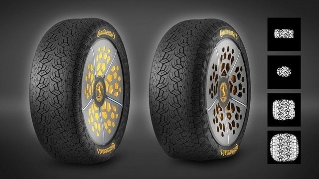 德国大陆集团全新概念轮胎 可调整自身适应路况