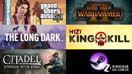 Steam一周排行:《绝地求生》二十连冠