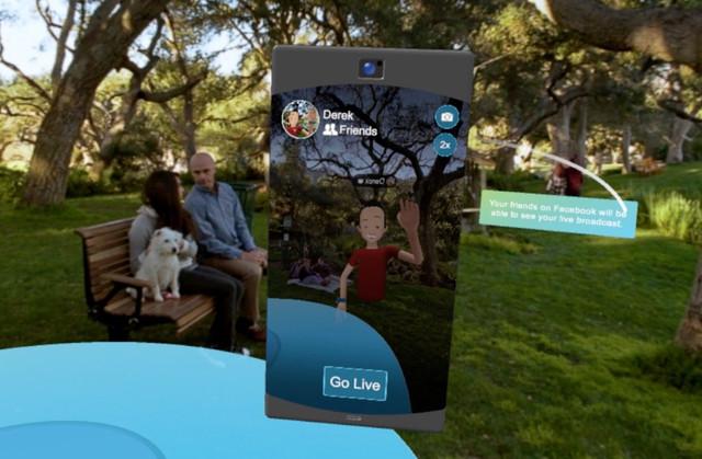 Facebook的VR世界里能直播 可以用它开会