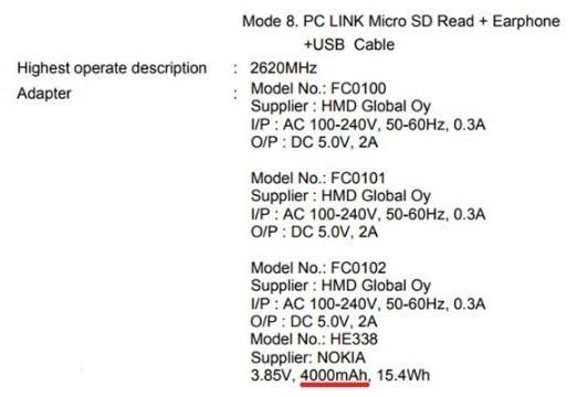 备用机中战斗机 诺基亚2搭4000mAh电池