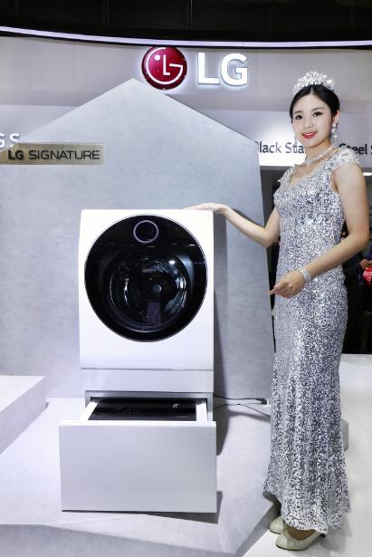 LG 高端系列亮相AWE  分层健康洗衣概念受追捧