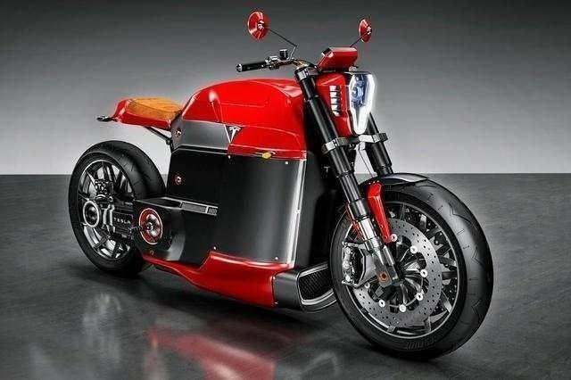 特斯拉概念电动摩托 无变速箱不输哈雷
