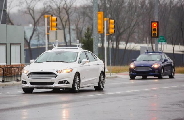 2021年量产 福特公布无人驾驶汽车计划高清图片