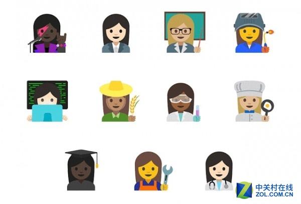 谷歌推出新一批emoji表情