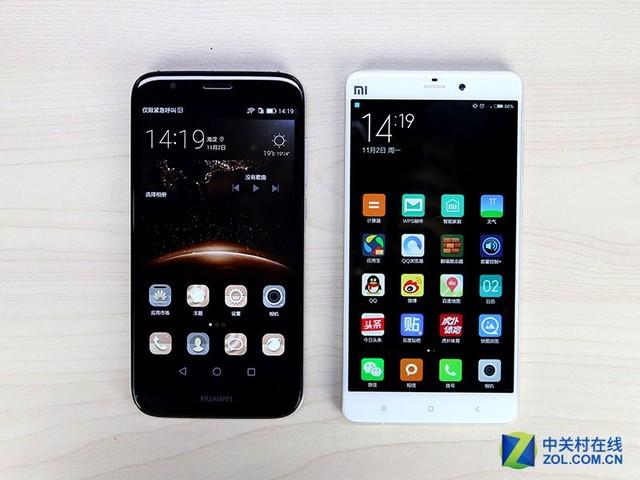 尖Phone对决:华为G7 Plus对比小米Note