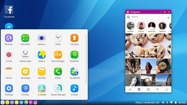 三星DeX桌面拓展(图源:超能网) 用户可以从左下角的开始菜单找到所有应用,允许多个窗口的存在,在桌面右下角可以进行对手机的设置,手机收到的信息也会显示在右下角,用户可以像使用社交软件一样进行回复。而且三星DeX桌面拓展提供了VDI(虚拟桌面基础架构),等功能完善之后将能够部署远程微软Windows操作系统,更进一步实现直接运行Win32应用程序的功能。