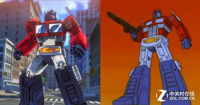 擎天柱(左:游戏 右:g1动画)